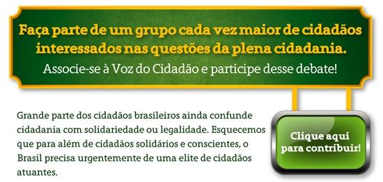 Campanha contribuição agentes de cidadania