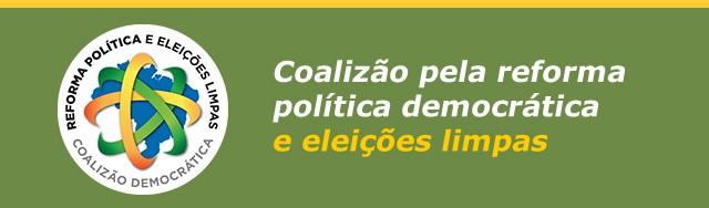 Eventos <p> Coalizão pela Reforma Política Democrática e Eleições Limpas convida paraeventos no dia 25 de fevereiro