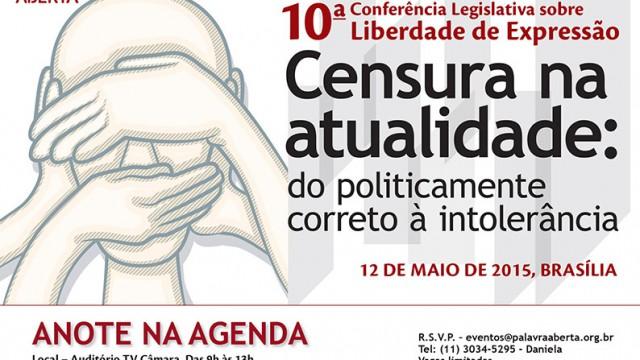 Eventos <p>Instituto Palavra Aberta convida para a X Conferência Legislativa sobre Liberdade de Expressão
