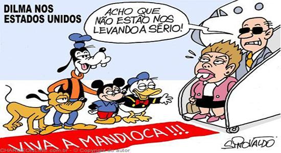 Humor – <p>Nova charge de Sinovaldo revela como os Estados Unidos recebem a presidente Dilma
