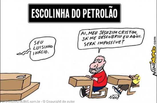 Humor – <p> Nova charge de Nani mostra o novo alvo das manifestações de domingo passado
