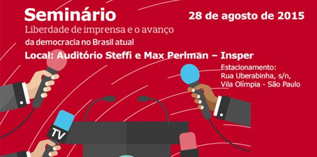 """Eventos – <p>Palavra Aberta promove amanhã, 28/08, seminário """"Liberdade de Imprensa e o avanço da democracia no Brasil atual"""""""