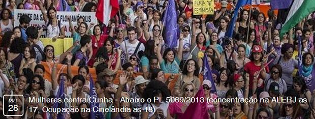 Eventos – <p>Movimentos sociais fazem manifestação no próximo dia 28/10 contra projeto de lei contra aborto