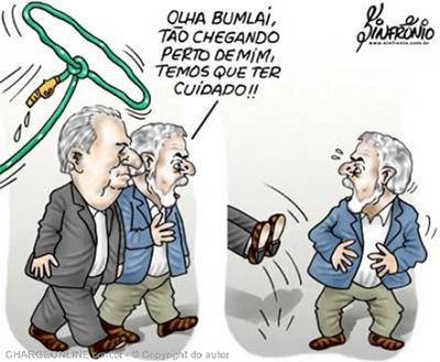 Humor – <p>Nova charge de Sinfrônio revela a verdadeira preocupação de Lula
