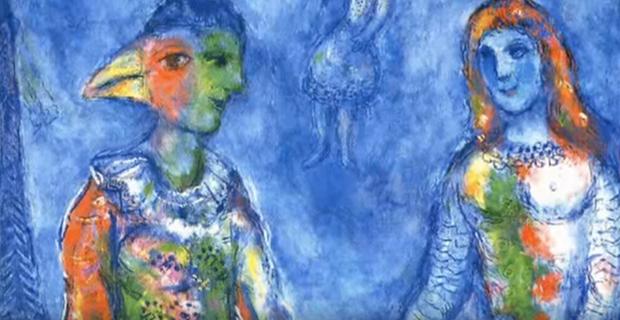 Artes / Exposição – <p>Apresentação na internet mostra algumas das mais tocantes obras de Marc Chagall