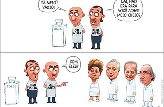 Humor – <p>Nova charge de Amarildo mostra bem o espírito do brasileiro para 2016