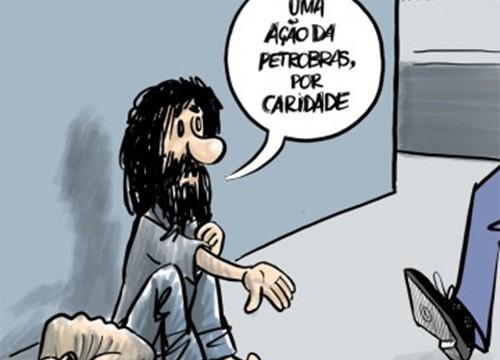 Humor – <p>Nova charge de Márcio Tarcitano mostra o quanto as ações da Petrobras já despencaram