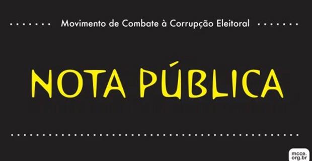 Manifestos – <p>Em nota pública, MCCE reprova o lançamento de candidatos a direção partidária através de comissões provisórias