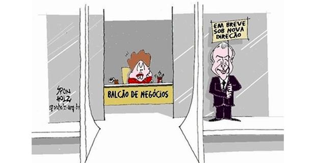 Humor – <p>Nova charge de Sponholz mostra a quantas anda a vida no Palácio do Planalto