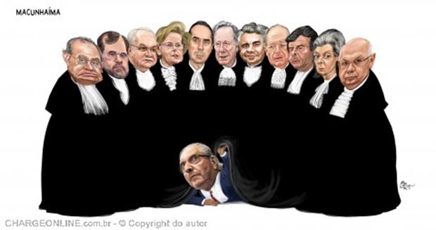 Humor – <p>Nova charge de Aroeira mostra a verdadeira relação do deputado Cunha com o STF