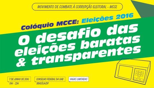 <p>Evento MCCE: o desafio das eleições baratas e transparentes<p>