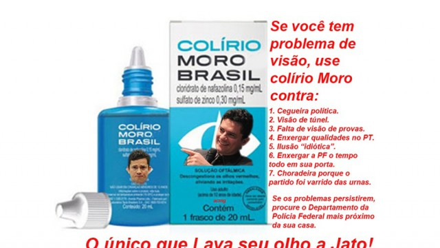 <p>Humor – Colírio para vista irritada dos cidadãos brasileiros<p>