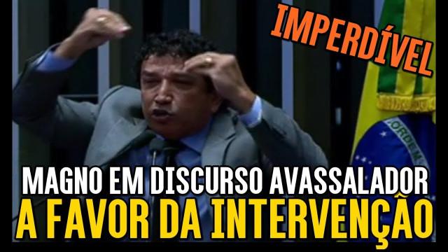 <p>Segurança Pública – Senador Magno Malta faz defesa da intervenção no Rio de Janeiro<p>