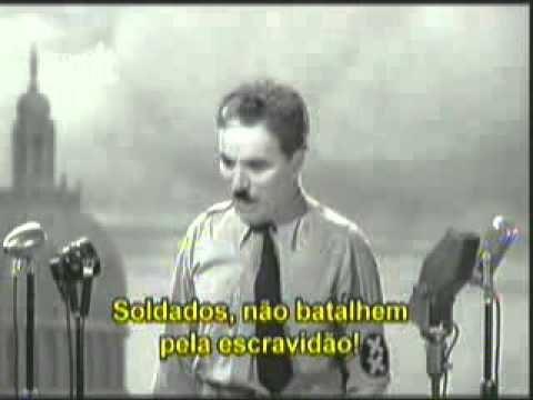 """<p>Filme – """"O Grande Ditador – discurso final"""" – É sempre bom lembrar. Para que não esqueçamos jamais do valor da democracia<p>"""