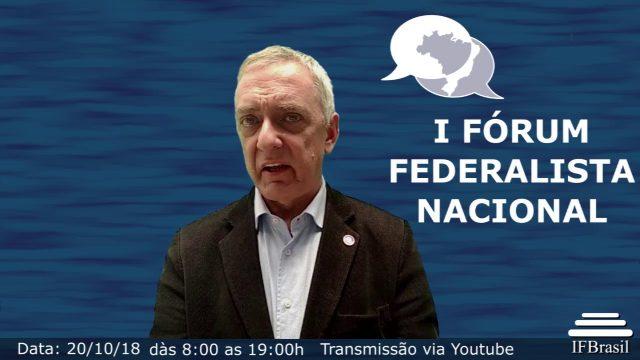 <p>Eventos – 1º Forum Federalista Nacional, por que repensar a farsa de nossa federação é prioridade das prioridades!<p>