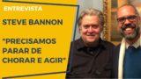 <p>Mídia enviesada – Assista a uma entrevista com Steve Bannon que você jamais verá na grande mídia enviesada<p>